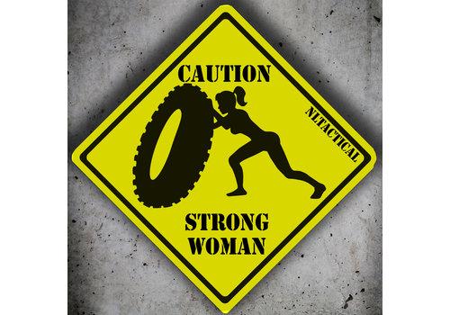 NLTactical Caution Strong Woman Patch