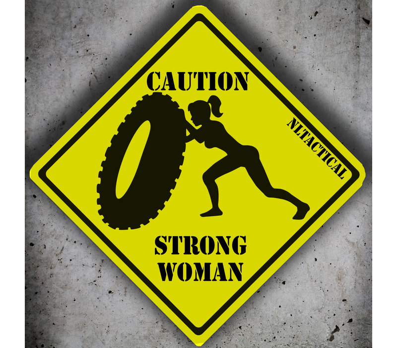 Caution Strong Woman Patch