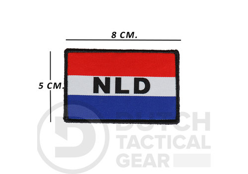 Dutch Tactical Gear Nederlandse NLD Vlag 50 X 80 mm - Rood Wit Blauw