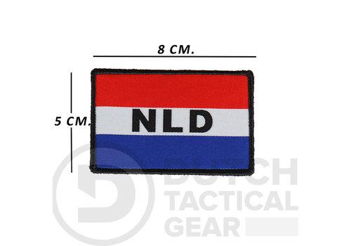 NLTactical Nederlandse NLD Vlag 50 X 80 mm - Rood Wit Blauw