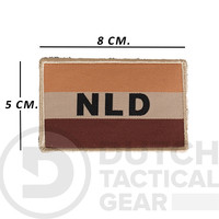 Dutch NLD Flag 50 X 80 mm - Desert