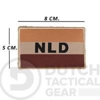Nederlandse NLD  Vlag 50 X 80 mm - Desert