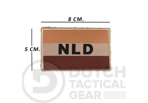 NLTactical Nederlandse NLD  Vlag 50 X 80 mm - Desert