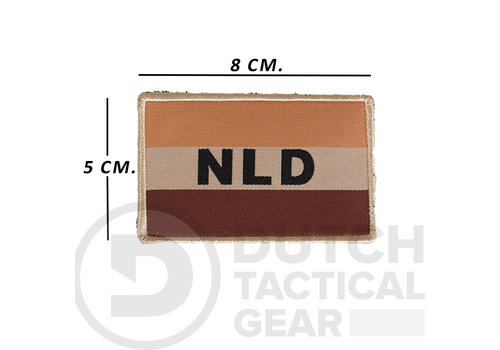 NLTactical Niederländische NLD Flagge 50 X 80 mm - Desert