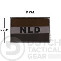 Nederlandse NLD Vlag 50 X 80 mm - Ranger Green