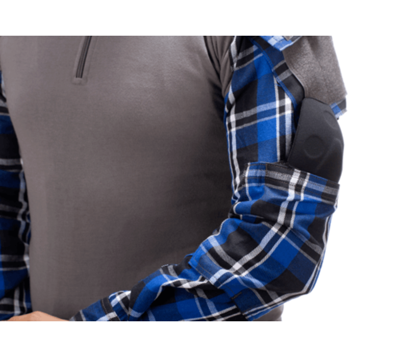 Flannel Combat Shirt - Blue