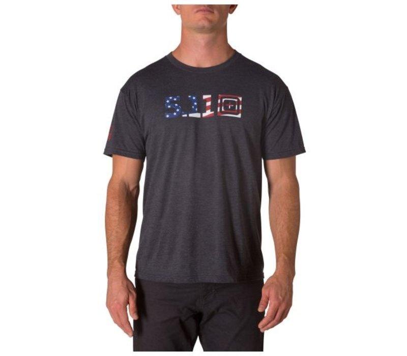 Legacy USA Flag Fill TeePop Tee - Charcoal Heather