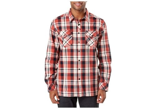 5.11 Tactical Peak Long Sleeve Shirt -  Oxide Red Plaid