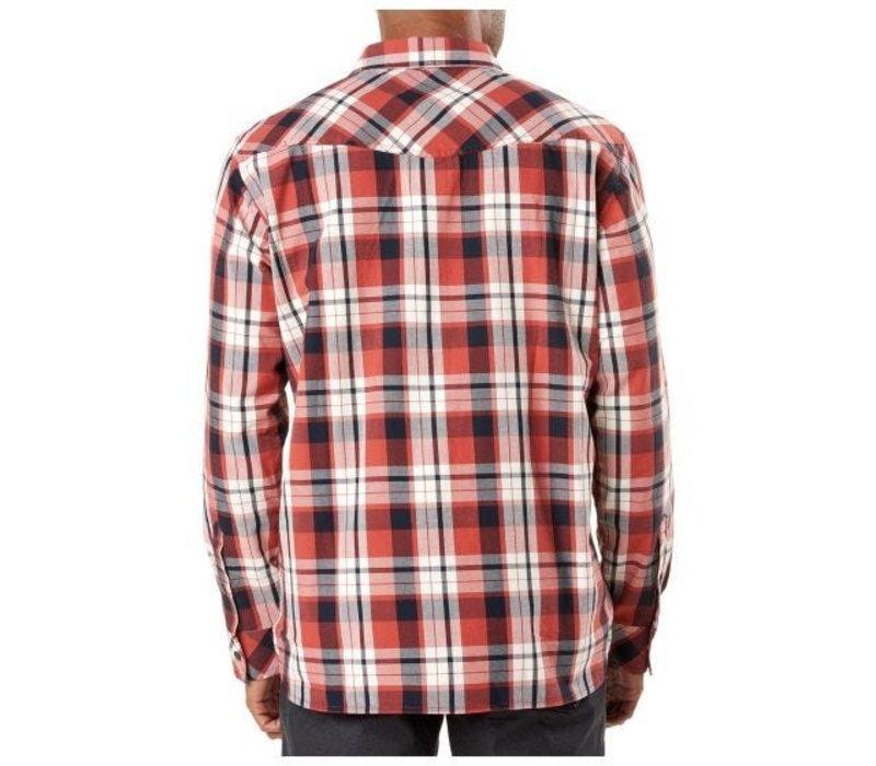 Peak Long Sleeve Shirt -  Oxide Red Plaid