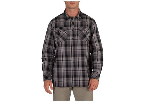 5.11 Tactical Peak Long Sleeve Shirt - Flint Plaid