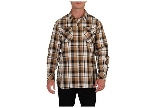 5.11 Tactical Peak Long Sleeve Shirt - Almond Plaid