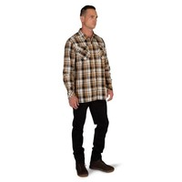 Peak Long Sleeve Shirt - Almond Plaid