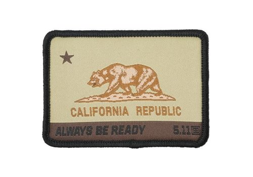 5.11 Tactical California State Bear Patch - Coyote