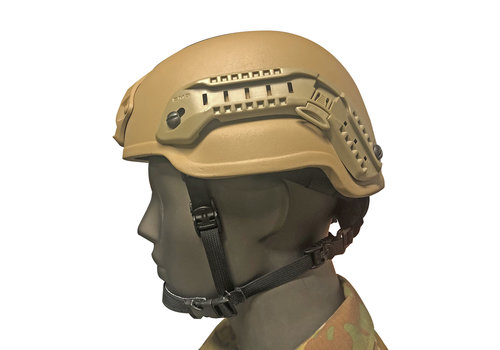 Nexus Helmet Gunfighter M2 w  Dailer, Rails, Shroud - Tan