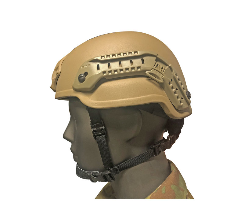 Nexus Helmet Gunfighter M2 w  Dailer, Rails, Shroud - Tan
