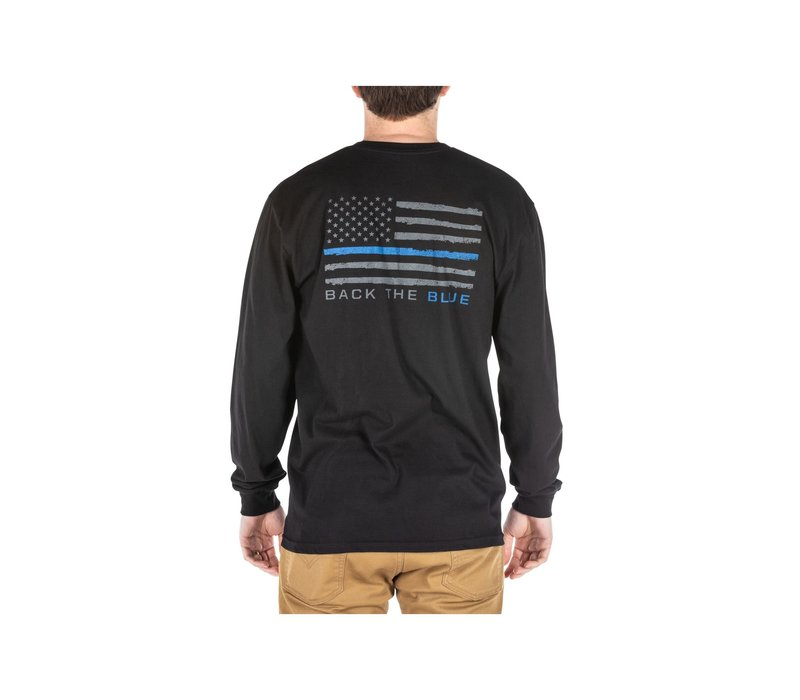 Thin Blue Line Long Sleve - Black