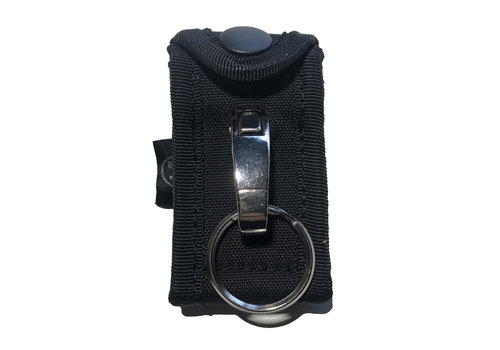 Dutch Tactical Gear Key Ring Holder w Metal Hook for belt - Black