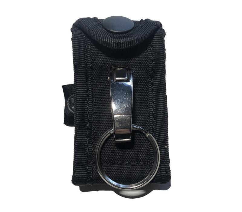 Key Ring Holder w Metal Hook voor koppel - Black