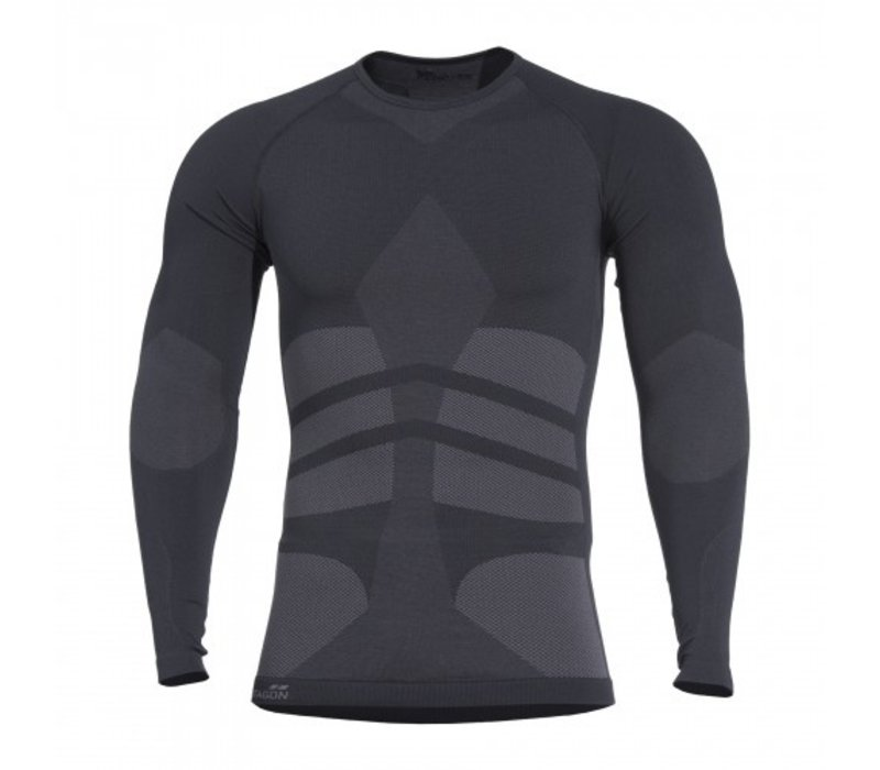 Plexis Activity Long Shirt  - Black