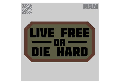 MilSpec Monkey Live Free Or Die Hard patch