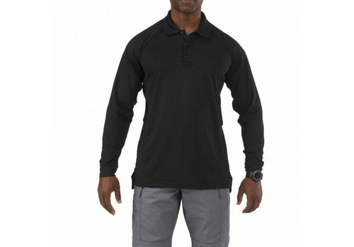 5.11 Tactical Performance Long Sleeve Polo - Black