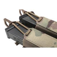 Laser Cut Double Bungee Pistol Pouch - Multicam