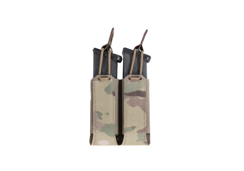 Warrior Laser Cut Double Bungee Pistol Pouch - Multicam