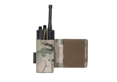 Warrior Laser Cut Wing Velcro Adjustable  Radio Pouch (Left Side)  - Multicam
