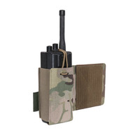 Laser Cut Wing Velcro Adjustable  Radio Pouch (Left Side)  - Multicam