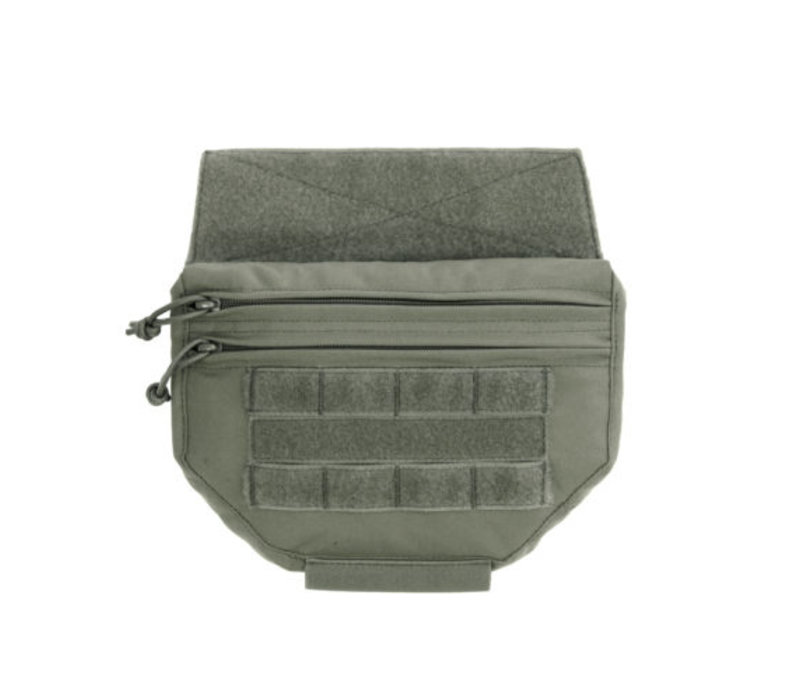 Drop Down Velcro Utility Pouch - Ranger Green