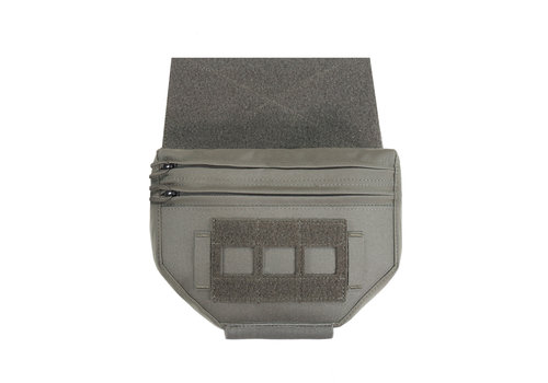 Warrior Laser Cut Drop Down Velcro Utility Pouch - Ranger Green