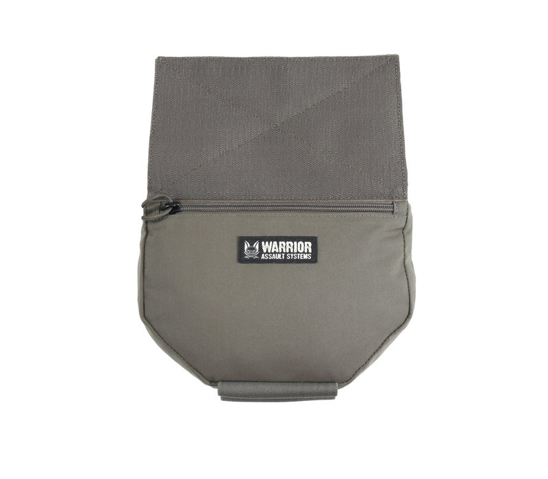 Laser Cut Drop Down Velcro Utility Pouch - Ranger Green