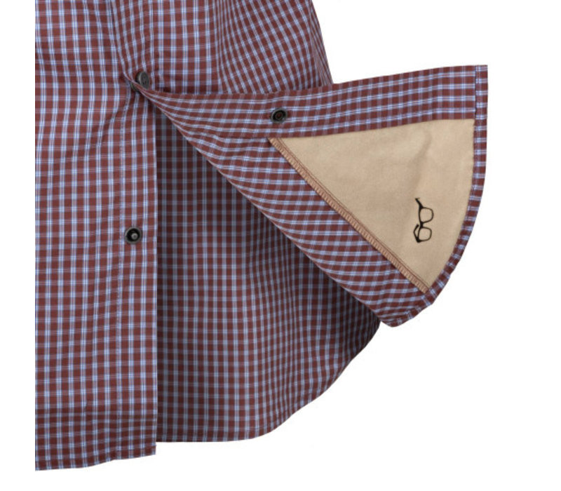 Covert Concealed Carry Shirt - Scarlet Flame Checkered