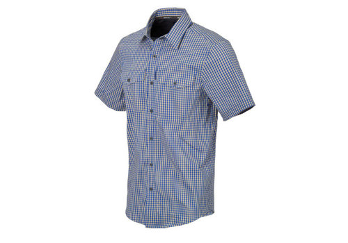 Helikon-Tex Covert Concealed Carry Short Sleeve Shirt - Royal Blue Cheakered