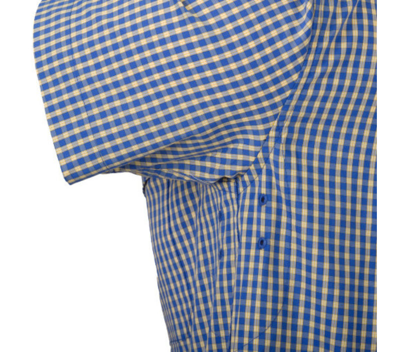 Covert Concealed Carry Short Sleeve Shirt - Royal Blue Cheakered