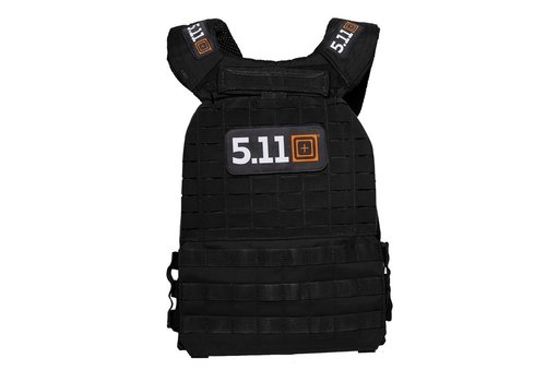 5.11 Tactical TacTec Plate Carrier Logo - Black