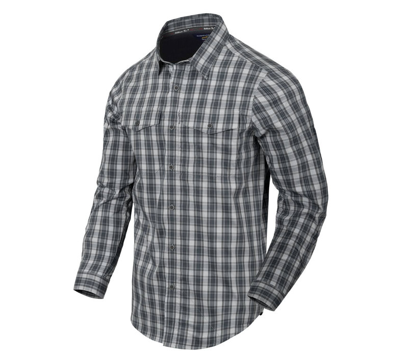Covert Concealed Carry Shirt - Foggy Grey Plaid
