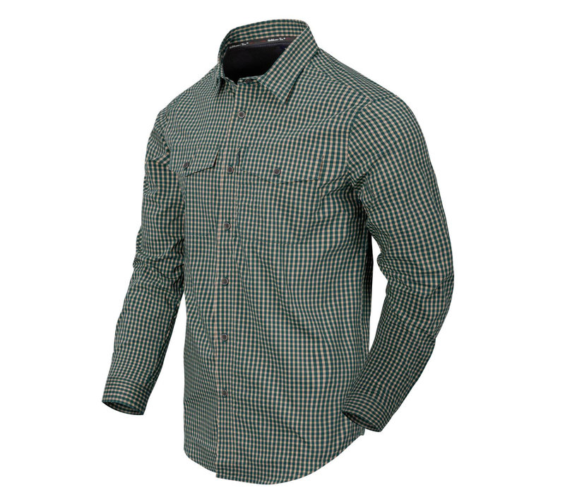 Covert Concealed Carry Shirt - Savage Green Checkerd