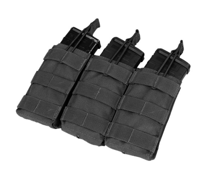 MA27 Triple Open Top M4/M16 Mag Pouch - Black
