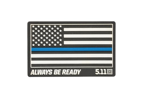 5.11 Tactical Thin Blue Line Patch - Black