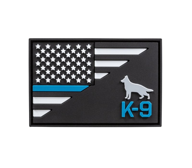 K-9 Thin Blue Line Patch