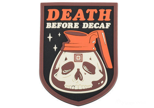 5.11 Tactical Death Before Decaf Patch - Red