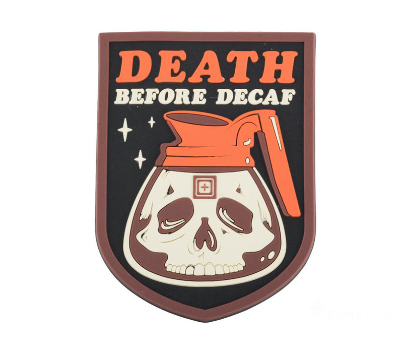 Death Before Decaf Patch - Red