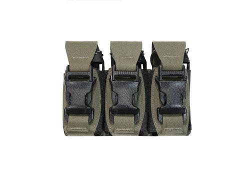 Warrior Laser Cut Triple 40mm Flashbang Pouch - Ranger Green