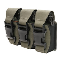 Laser Cut Triple 40mm Flashbang Pouch - Ranger Green