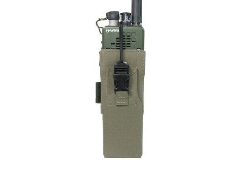 Warrior Laser Cut MBITR/Harris Radio Pouch  - Ranger Green