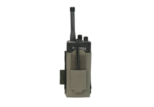 Warrior Laser Cut Adjustable  Radio Pouch - Ranger green