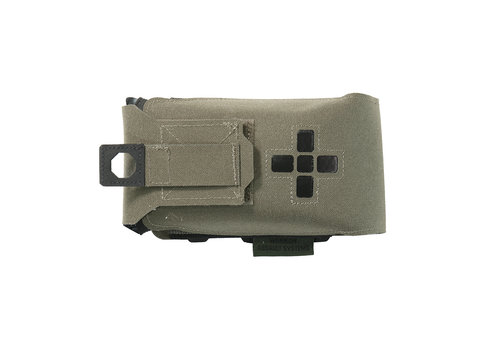 Warrior Laser Cut Small Horizontal Individual First Aid Kit Pouch - Ranger Green