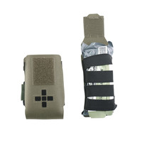 Laser Cut Small Horizontal Individual First Aid Kit Pouch - Ranger Green