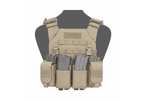 Warrior Recon Plate Carrier w Pathfinder Chest Rig - Coyote Tan